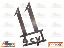 MONOGRAMME NEUF INOX pour coffre malle aile Citroen TRACTION 11  -440-