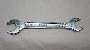 "Sears Open End Wrench 7/8"" x 13/16"""
