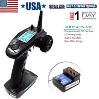 FlySky FS-GT5 2.4G 6CH AFHDS 2A RC Transmitter w/ Receiver for RC Car Boat US