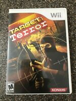 Target: Terror (Nintendo Wii) Complete w/ Manual - Tested Working - Free Ship