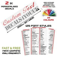2 x Custom text  Decal Personalised Name Lettering Funny Car/Van/Window sticker