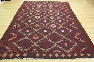 Oriental Persian Handmade Turkish Wool Kilim Weave Rug Carpet Room Floor