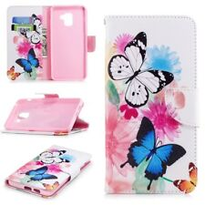 For Samsung Galaxy A8 A8 Plus 2018 Magnetic Leather Flip Case Wallet Card Cover