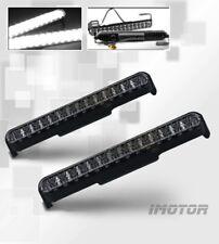 """8.5"""" LED Black Housing Daytime Running Lights Lamps Pair w/28 Super White LED"""