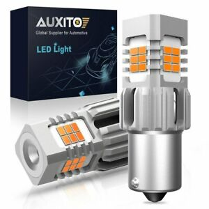 7506 BA15S 1156 LED Amber Turn Signal Bulb No Hyper Flash for Mercedes BMW Audi