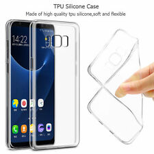 Transparents Slim Clear Soft Silicone TPU Rubber Gel Back Case Cover For Samsung