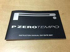 Instruction Manual PIRELLI Pzero Tempo - Day-Date GMT - All Languages