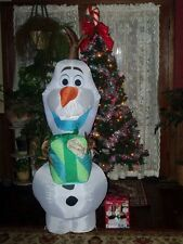 CHRISTMAS DISNEYS FROZEN AIRBLOWN OLAF SNOWMAN GIFT INFLATABLE FIGURE YARD LIGHT