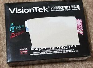 VisionTek Radeon HD 7750 EYE 4 Graphics Card 2GB GDDR5  ~Opened box~
