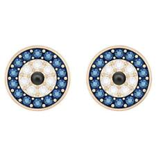Swarovski Crystal Rose Gold Blue Evil Eye Pierced Earrings - 5377720 MIB NEW
