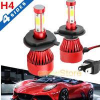 CREE H4 HB2 9003 3000W 600000LM 4-Sided LED Headlight Kit Hi/Lo Power Bulb 6000K