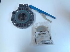 """NIBCO CHEMTROL W45BG E 3 3"""" LEVER HANDLE BUTTERFLY VALVE - NOS - FREE SHIPPING!!"""