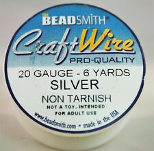 BeadSmith Craft Wire Pro Quality Silver 20 Gauge 6 yards