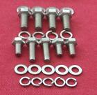 MGB 'B'  series engine TIMING CHAIN COVER HEX HEAD BOLTS IN STAINLESS STEEL