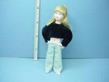 Miniature Blond Girl Dollhouse Doll, - Erna Meyer 1/12th