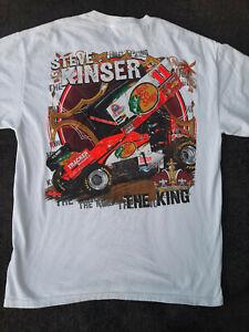 SPRINT CAR -  STEVE KINSER -  2010 AUTOGRAPHED T-SHIRT - LARGE