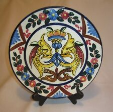Decorative Hand Painted Ceramic Plate, signed P. Zorilla, Spain, Pottery, 8.75""