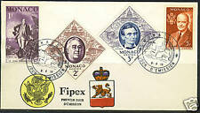 MONACO 1956 FOUR U.S. PRESIDENTS ISSUE ON FDC