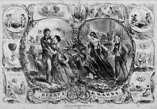 ST. VALENTINE'S DAY 1863, CUPID, HEARTS FOR SALE, ANGEL