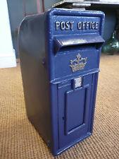 Royal Mail en fonte Post Box in Scottish en Bleu Royal Mail Style