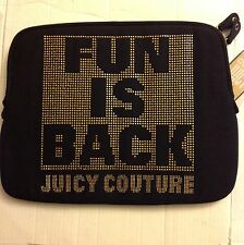 Juicy Couture Fun Is Back Laptop Computer Case Sleeve Brand New NWT Black