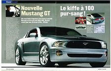 PUBLICITE ADVERTISING  2003   MUSTANG  GT COUPE (2 pages)