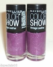 2 Maybelline Color Show LE Vintage Leather Nail Polish LASTING LILAC 885