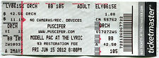 PUSCIFER 6/15/2012 Summer Tour Concert Ticket!! MODELL PAC AT THE LYRIC Md