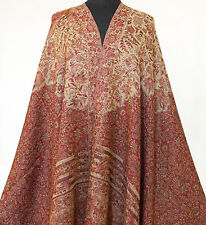 Large Jamavar Wool Shawl. Elegance & Excellent Value Pashmina Style Mughal Motif