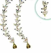 Rajasthani Bird Wall & Door Hangings with Beads & Brass Bell (10 Birds,2 String)