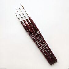 KOLINSKY SABLE Nail Art Professional Miniature Brush Set DK13R Russian Roubloff