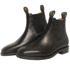 Mens Baxter Goulburn Black Dress Boots NEW