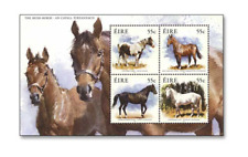 IRL1114ZB Horses block AND 4 STAMPS MNH IRELAND 2011