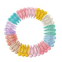 40 Pcs Kids Hair Clips Baby Girls Hair Accessories Snap Barrettes Candy Col G8N6