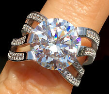 5 ct Imperial Crown Ring Russian Quality CZ Imitation Moissanite Simulant Size 6