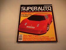 SUPER AUTO ILLUSTRATED MAGAZINE MAY 1986