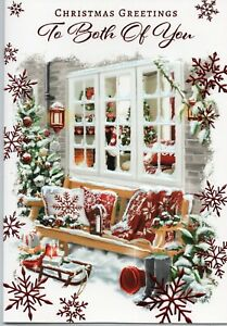 Both Of You Christmas Card Traditional Design By Prelude Size 20cm x 14cm