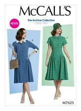M7625 Sewing Pattern 1950s Vintage Collection Low Waist Dresses 1955 Sizes 14-22