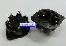 10pcs 8-pin  HIFI Audio Tube Gold plated Sockets for EL12 ECL11 AZ11 EF12 EL156