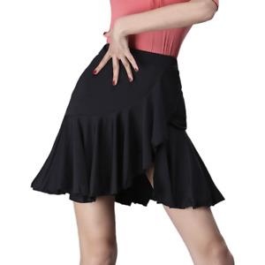 Ladies Ballroom Latin Dance Skirt with Shorts Dancewear Tango Skate Ruffle Slim