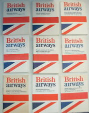 1970s BRITISH AIRWAYS pocket TIMETABLES UK / EUROPE- VISCOUNT TRIDENT BAC111etc
