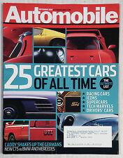 AUTOMOBILE CAR MAGAZINE 2007 SEPTEMBER 25 GREATEST M3 GTI BUGATTI FERRARI PORSCH