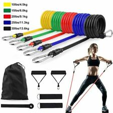 11PC Elastic Resistance Bands Sets Workout Rubber For Fitness Sport Exercise