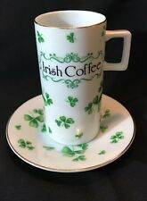 Lefton Irish Coffee Cup and Saucer 02683 Shamrock St Patrick