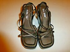 Classified Brown Bronze Strappy Crisscross Strap Platform Wedge Sandals Womens 6