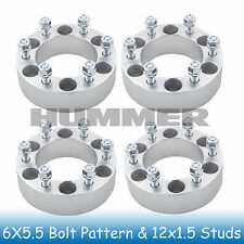 "2"" Hummer 6 Lug Wheel Spacers 6x5.5 6x139.7 Fits For H3 2006 - 2010"