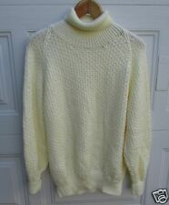 Handmade Sweater Turtleneck Pullover Top Iran Soft Hand Knitted Womens L