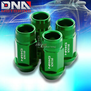 4 X NRG M12 X 1.5 ALUMINUM RACING LUGNUT/WHEEL LOCK FOR ACURA BUICK GREEN