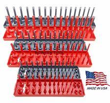 """Hansen Global 6pc Socket Tray Rack Organizer Set 1/4 3/8 1/2"""" Metric SAE USA"""