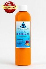 "PALM OIL ""RED"" EXTRA VIRGIN UNREFINED ORGANIC CARRIER COLD PRESSED PURE 8 OZ"